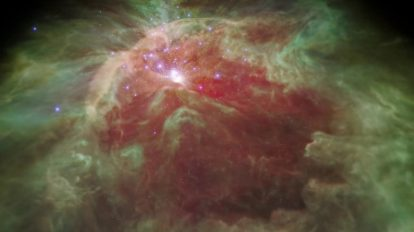 Полет през мъглявината в Орион в инфрачервена светлина (видео) (Астрономическа снимка на деня – APOD)
