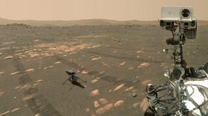 Марсианско селфи на Perseverance с хеликоптера Ingenuity (Астрономическа снимка на деня – APOD)