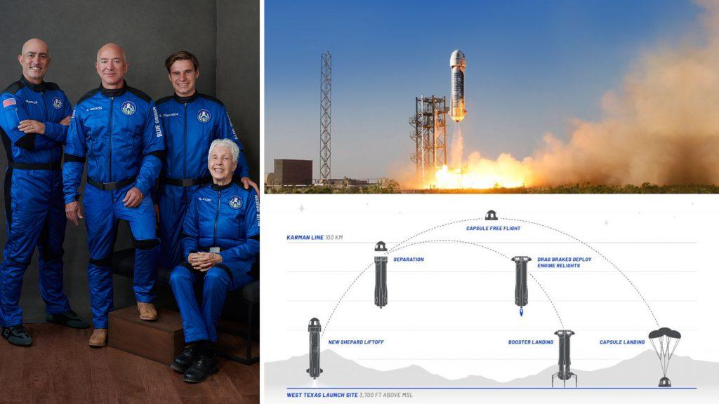 Гледайте на живо туристическият полет на Джеф Безос до ръба на Космоса с ракетата New Shepard (видео)