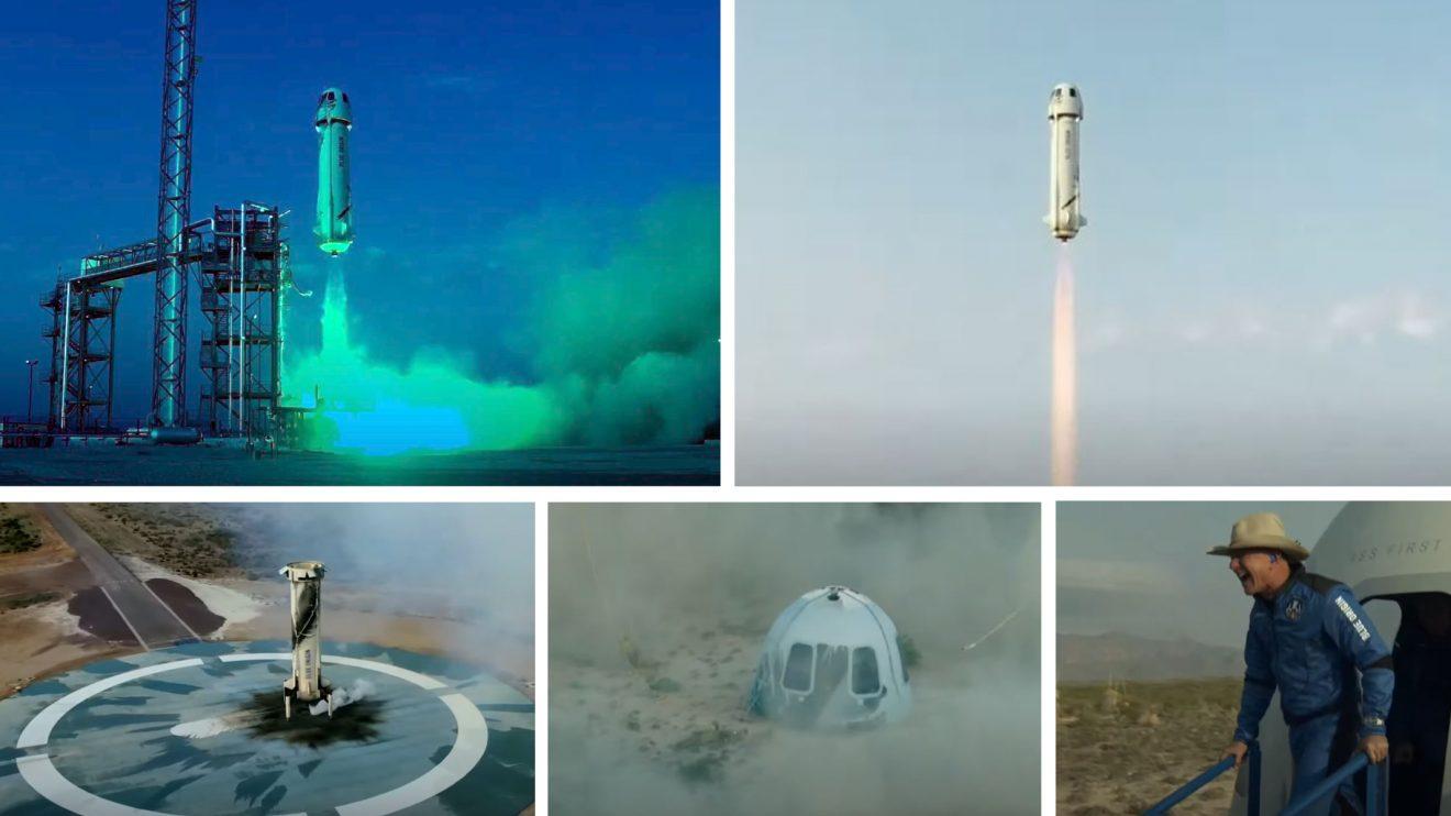 Успех! Джеф Безос достигна до ръба на Космоса с първия туристически полет на Blue Origin (видео)