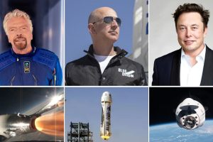 Новата космическа надпревара - Брансън и Безос излитат с първите туристически полети на компаниите си (видео)