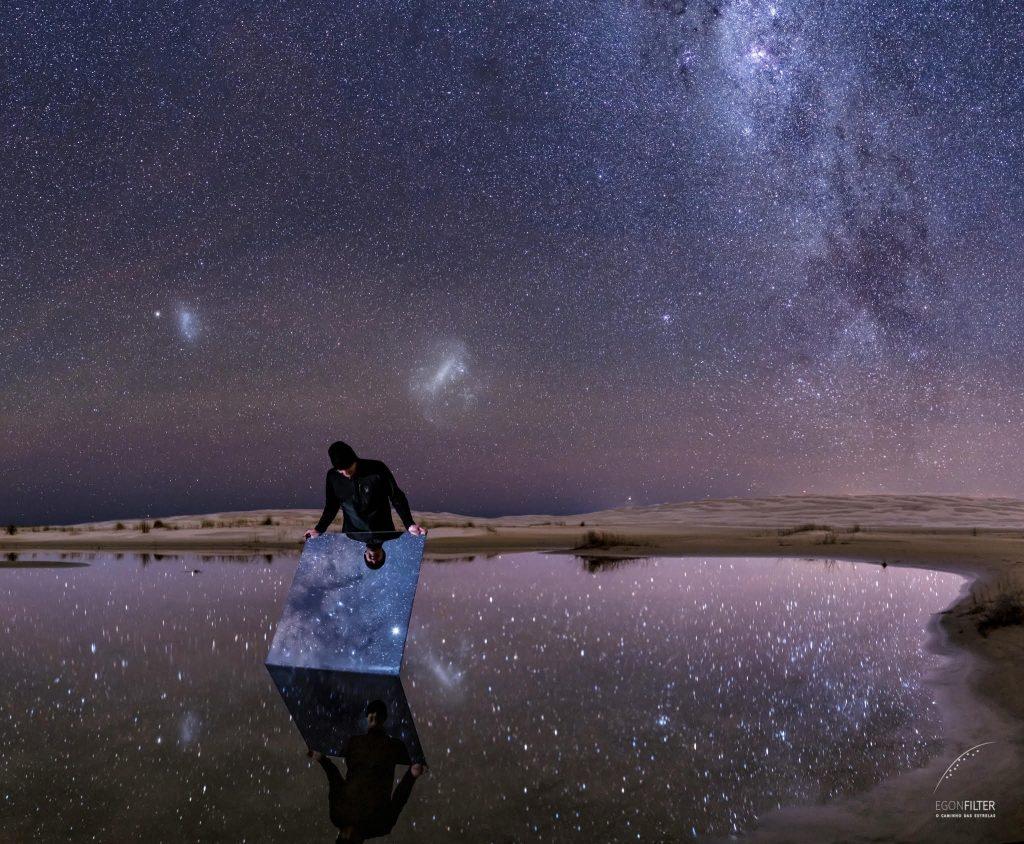 Отразеното нощно небе (Астрономическа снимка на деня – APOD)