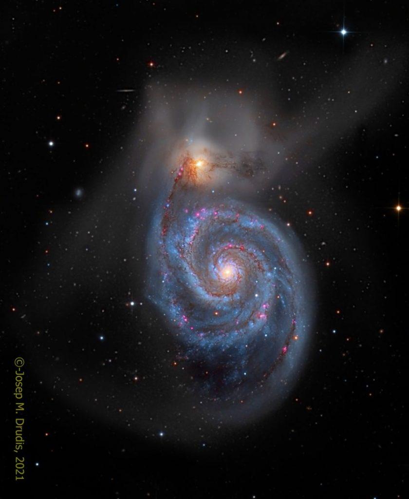 M51: Галактиката Водовъртеж (Астрономическа снимка на деня – APOD)