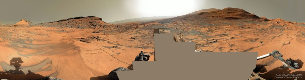 360-градусова марсианска панорама от Curiosity (Астрономическа снимка на деня – APOD)