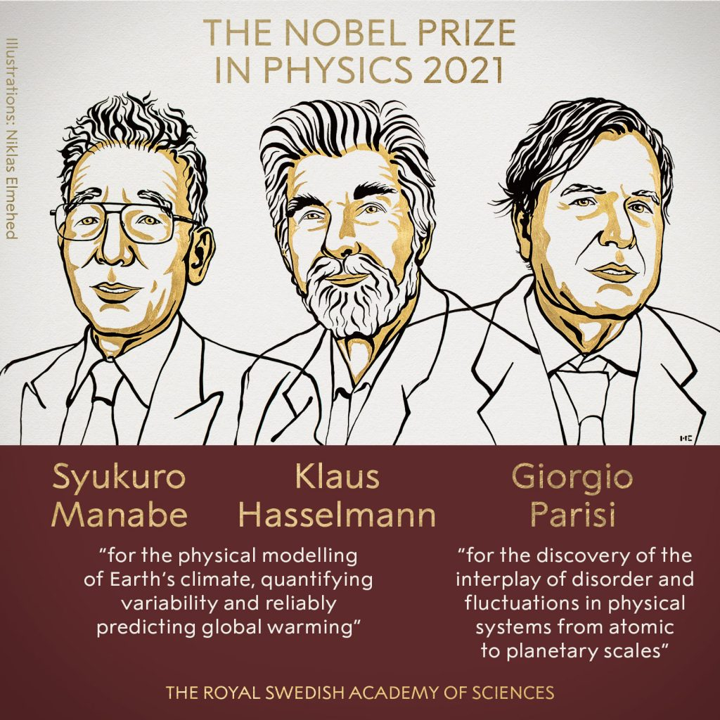 """Трима учени печелят Нобелова награда за физика за 2021 г. за """"принос към разбирането ни на сложните физически системи"""" (видео)"""