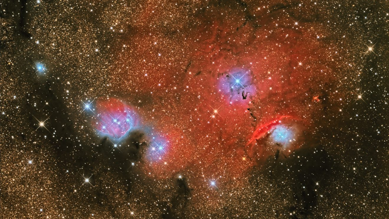 NGC 6559: Източно от Лагуната (Астрономическа снимка на деня – APOD)